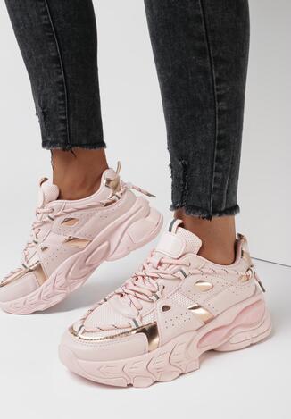 Różowe Sneakersy Melinoire