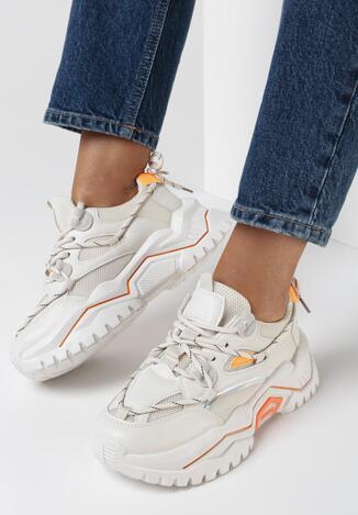 Beżowe Sneakersy Taniageia