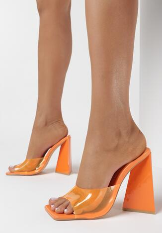 Pomarańczowe Klapki Narene