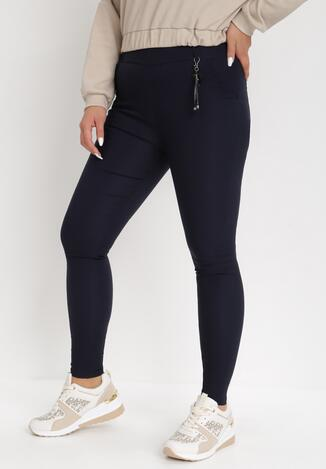 Granatowe Spodnie Skinny Marinah