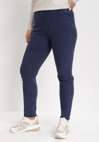 Granatowe Spodnie Skinny Amaliel