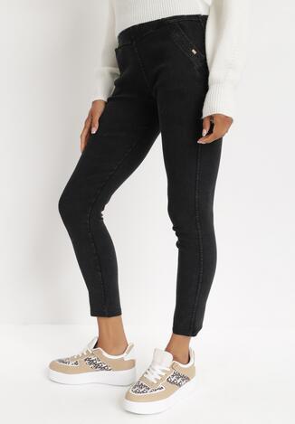 Czarne Spodnie Skinny Phiodia
