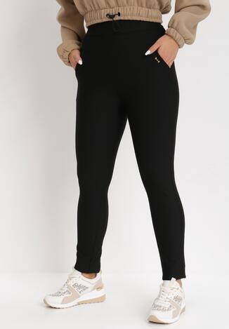 Czarne Spodnie Slim Sireira