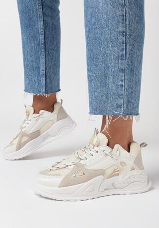 Beżowe Sneakersy Raella