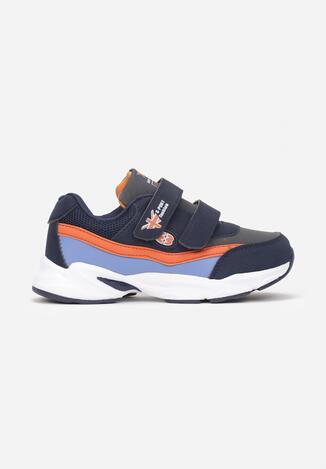 Niebiesko-Pomarańczowe Buty Sportowe Siolell