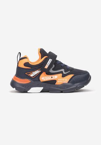 Granatowo-Pomarańczowe Buty Sportowe Zivira