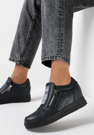 Granatowe Sneakersy Germael