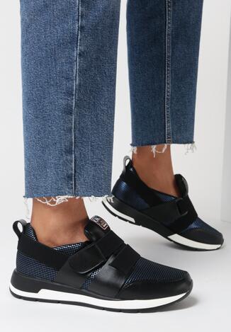 Granatowe Sneakersy Halivere