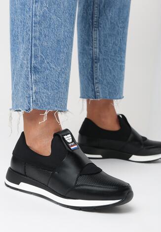 Czarne Sneakersy Halisa