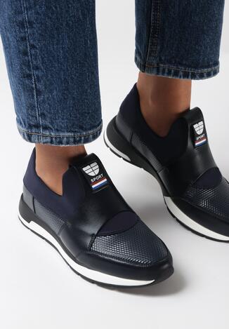 Granatowe Sneakersy Halisa