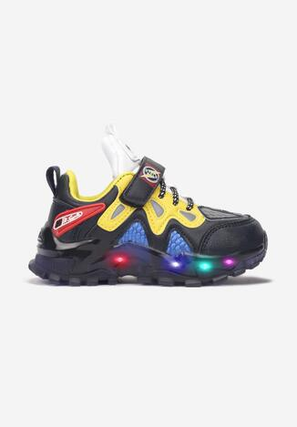 Granatowo-Żółte Buty Sportowe LED  Tsovla