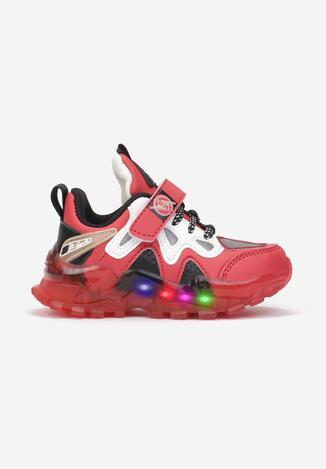 Czerwone Buty Sportowe LED Tsovla