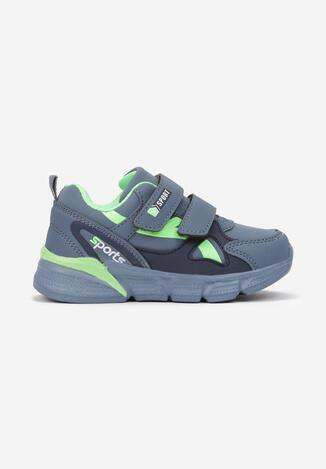 Niebiesko-Zielone Buty Sportowe Ione