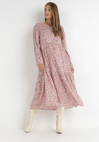 Różowa Sukienka Jenysana