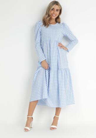 Niebieska Sukienka Parmene