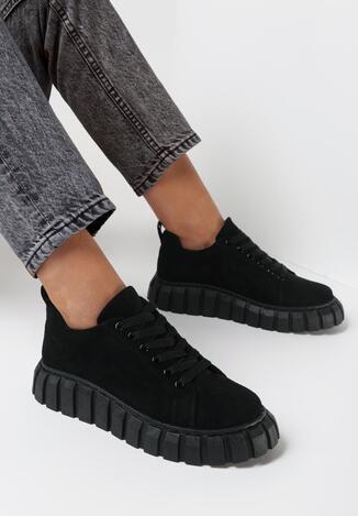 Czarne Sneakersy Allushi