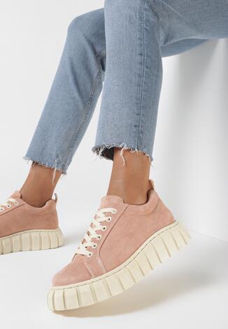 Różowe Sneakersy Allushi