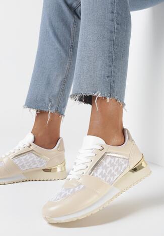 Beżowe Sneakersy Diodone