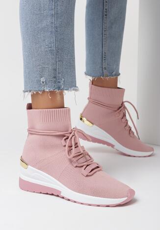 Różowe Sneakersy Eremiel