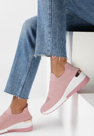 Różowe Sneakersy Ibun