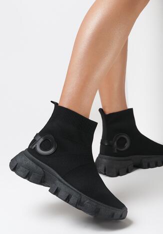 Czarne Sneakersy Assuh