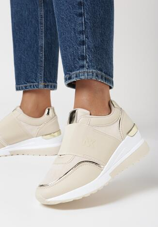Beżowe Sneakersy Arriena