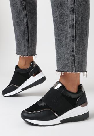 Czarne Sneakersy Arriena