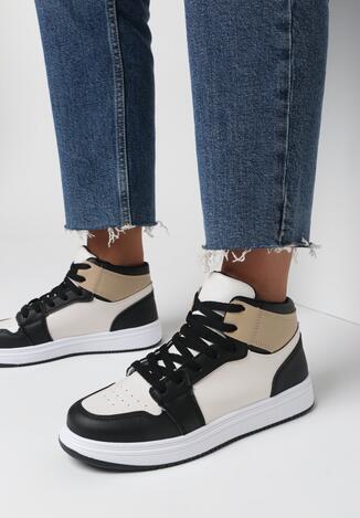 Czarno-Białe Sneakersy Poseidon