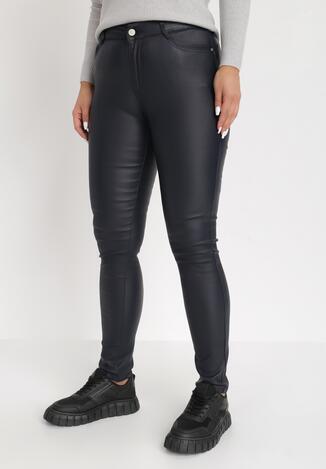 Granatowe Spodnie Push-Up Baraqiel
