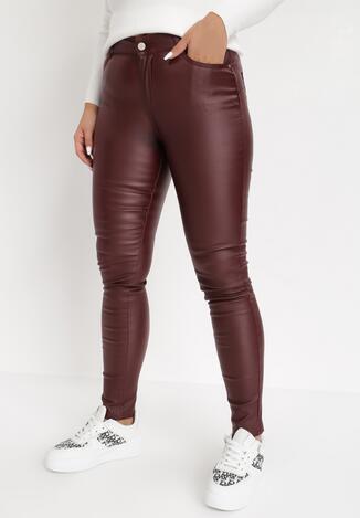 Bordowe Spodnie Push-Up Baraqiel