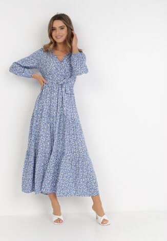 Niebieska Sukienka Zelelis