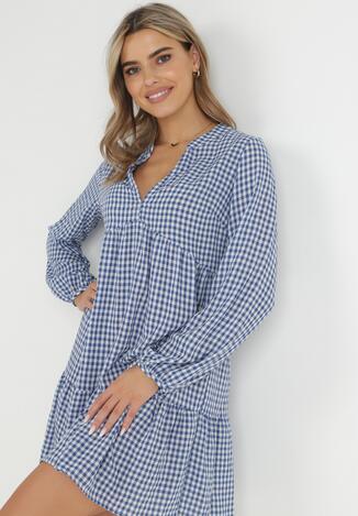 Biało-Niebieska Sukienka Nikatea