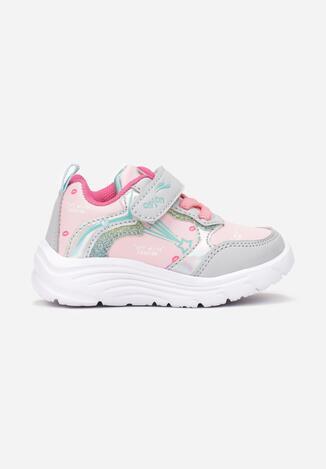 Różowo-Fuksjowe Buty Sportowe Undilea