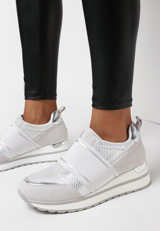 Szare Sneakersy Anteia