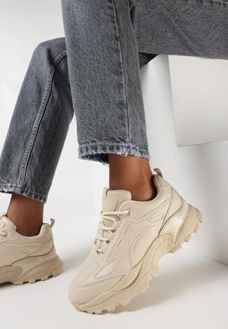 Beżowe Sneakersy Todemon