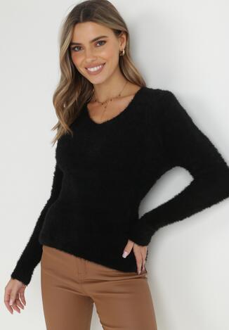Czarny Sweter Z Wełną Panaris