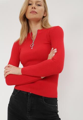 Czerwony Sweter Achonis