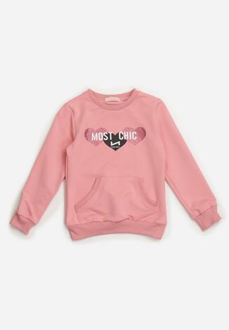 Różowa Bluza Cilamna