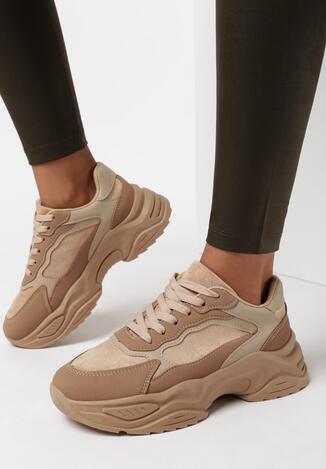 Ciemnobeżowe Sneakersy Chriserios