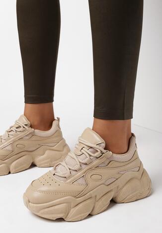 Ciemnobeżowe Sneakersy Artelle