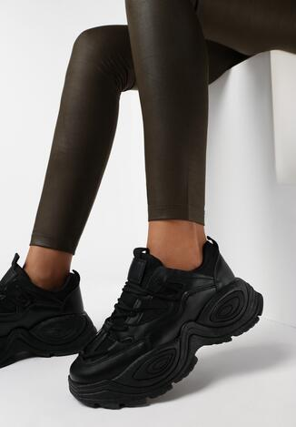 Czarne Sneakersy Haidima