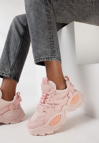 Różowe Sneakersy Haidina