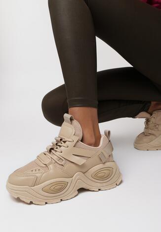 Ciemnobeżowe Sneakersy Haidina