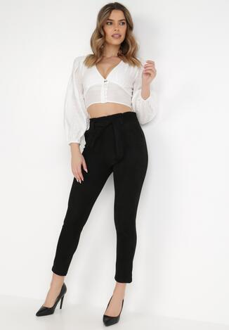 Czarne Spodnie Regular Hemah