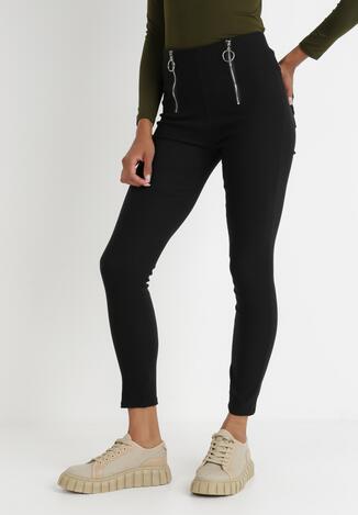 Czarne Spodnie Skinny Thaelotis