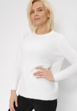 Biały Sweter Laodasia