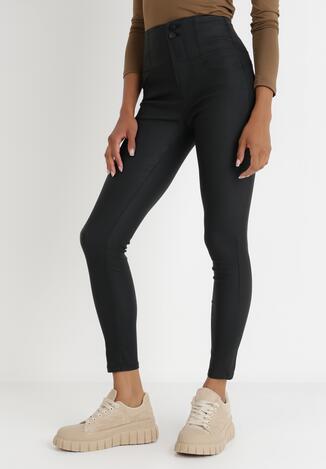 Czarne Spodnie Skinny Lasthiope