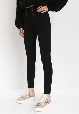 Czarne Spodnie Skinny Nemyne
