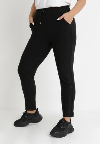 Czarne Spodnie Dresowe Palione