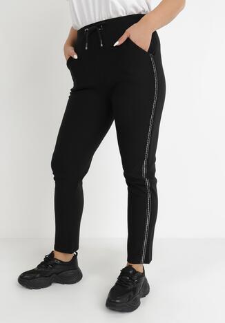 Czarne Spodnie Dresowe Kharile